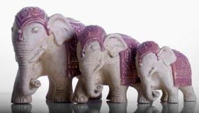 Elefantprydnadar Arkivbilder