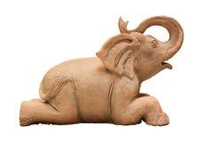 Elefantpuppentonwaren Lizenzfreie Stockfotografie