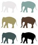 Elefantschattenbild - großes Säugetier der wild lebenden Tiere vektor abbildung