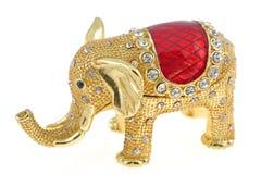 Elefantschmucksachekasten lizenzfreie stockbilder