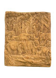 elefantskogskulptur Royaltyfria Foton