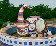 Elefantskulptur Arkivbild