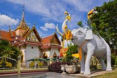 Elefantstatue bei Südthailand Stockfotos