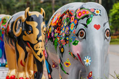 Elefantstaty Arkivfoto