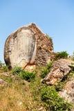 Elefantstaty på Mingun, Myanmar Royaltyfria Bilder
