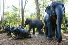 elefantstatyer Royaltyfri Fotografi