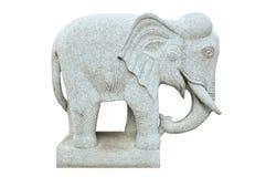 Elefantsteinstatue Lizenzfreie Stockfotos