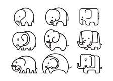 Elefantsymbol Royaltyfri Bild