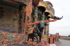 Elefanttempel Wat Ban Rai Arkivfoto