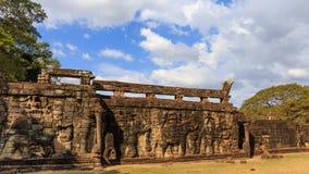 Elefantterrass i Angkor Thom Royaltyfri Foto