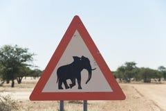elefantvägmärke Royaltyfri Fotografi