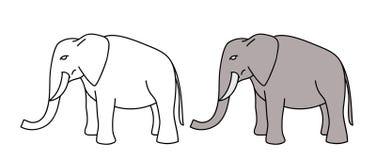 Elefantvektor för unge fotografering för bildbyråer