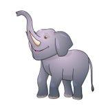 Elefantvektorillustration som isoleras på vit bakgrund Royaltyfri Bild