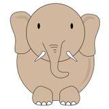 Elefantvektorteckning för ungar Arkivfoto