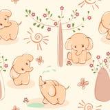 elefantwallpaper Royaltyfria Foton
