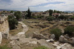 Elefsina,考古学站点 免版税库存照片