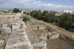 Elefsina, local arqueológico Imagem de Stock Royalty Free