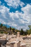 Elefsina, o lugar de um santuário acient onde os mistérios de Elefsinian dos mistérios de Eleusinian ocorreram cada ano em torno  Imagens de Stock