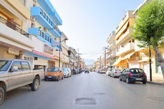 Eleftherios Venizelos Street in Hersonissos. Royalty Free Stock Photo