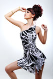 Elegância e beleza da menina bonita nova Fotos de Stock Royalty Free