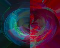 Elegância futurista do fractal digital abstrato do teste padrão da forma da dinâmica da elegância do efeito, ilustração stock