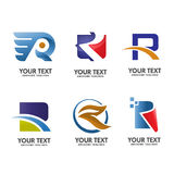 Elegan letter R logo set Royalty Free Stock Image