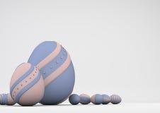 Eleganccy barwioni Wielkanocni jajka Obrazy Royalty Free