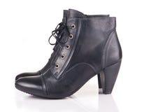 Eleganccy czarny buty Zdjęcia Royalty Free