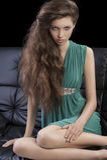 eleganccy dziewczyny zieleni potomstwa Obrazy Stock