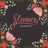 Eleganccy retro stylów kwiaty, roślina wektoru tło Zdjęcia Royalty Free