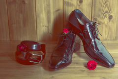 Eleganccy schoes dla mężczyzna Zdjęcia Royalty Free