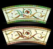 Elegance abstract floral stained glass window Royalty Free Stock Photo