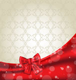 Elegance background with ribbon bow Royalty Free Stock Photos