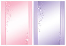 Elegance backgrounds. In pink and purple colors Stock Photography