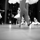 Elegance of ballet movement Royalty Free Stock Photo