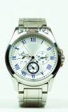 Elegance and beautiful wristwatch. Alarm,analog,chronometer  ,circle,clock ,date,dial  ,elegance,elegant,hand  ,hour,instrument ,jewelry  ,man Royalty Free Stock Photos