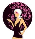 Elegance beauty girl. Vector illustration Royalty Free Stock Photography