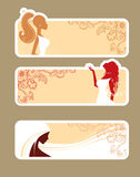 Elegance beauty girl. Vector illustration Royalty Free Stock Photography