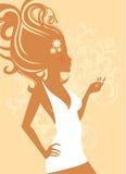 Elegance beauty girl Stock Images