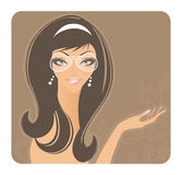 Elegance beauty girl Royalty Free Stock Images