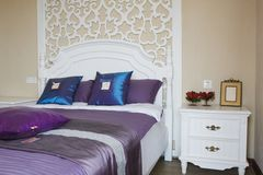 Elegance bedroom interior Stock Images