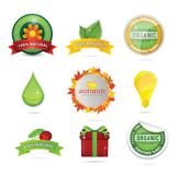 Elegance bio and eco web symbols Royalty Free Stock Photos