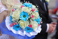 Elegance bouquet in the hands of the bride Stock Image