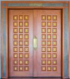 Elegance wood carving door Stock Photography