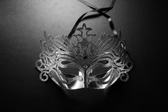 Elegance Carnival Mask. On dark backgroud Royalty Free Stock Photo
