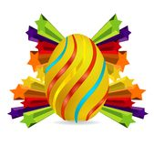 Elegance and colored swirl easter egg Royalty Free Stock Images