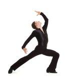 Elegance dancer posing. Isolated on white Royalty Free Stock Photos