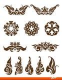 Elegance decorative vector set Stock Photography