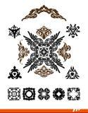 Elegance decorative vector set Stock Photos