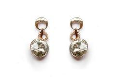 Elegance Earings. Isolated on White Background Royalty Free Stock Photo